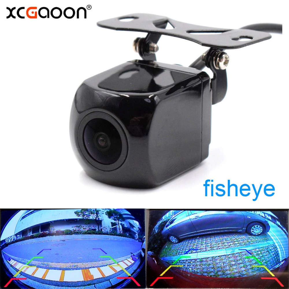 XCGaoon CCD 180 degree Fisheye Lens Car Camera Rear View Wide Angle Reversing Backup Camera Night Vision Parking Assist