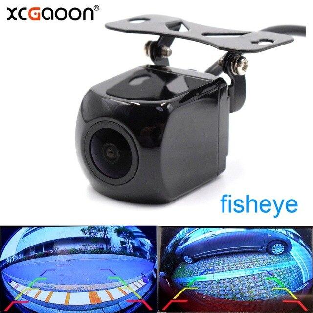 XCGaoon CCD 180 degree Fisheye Lens Car Camera Rear View Wide Angle Reversing Backup Camera Night Vision Parking Assist
