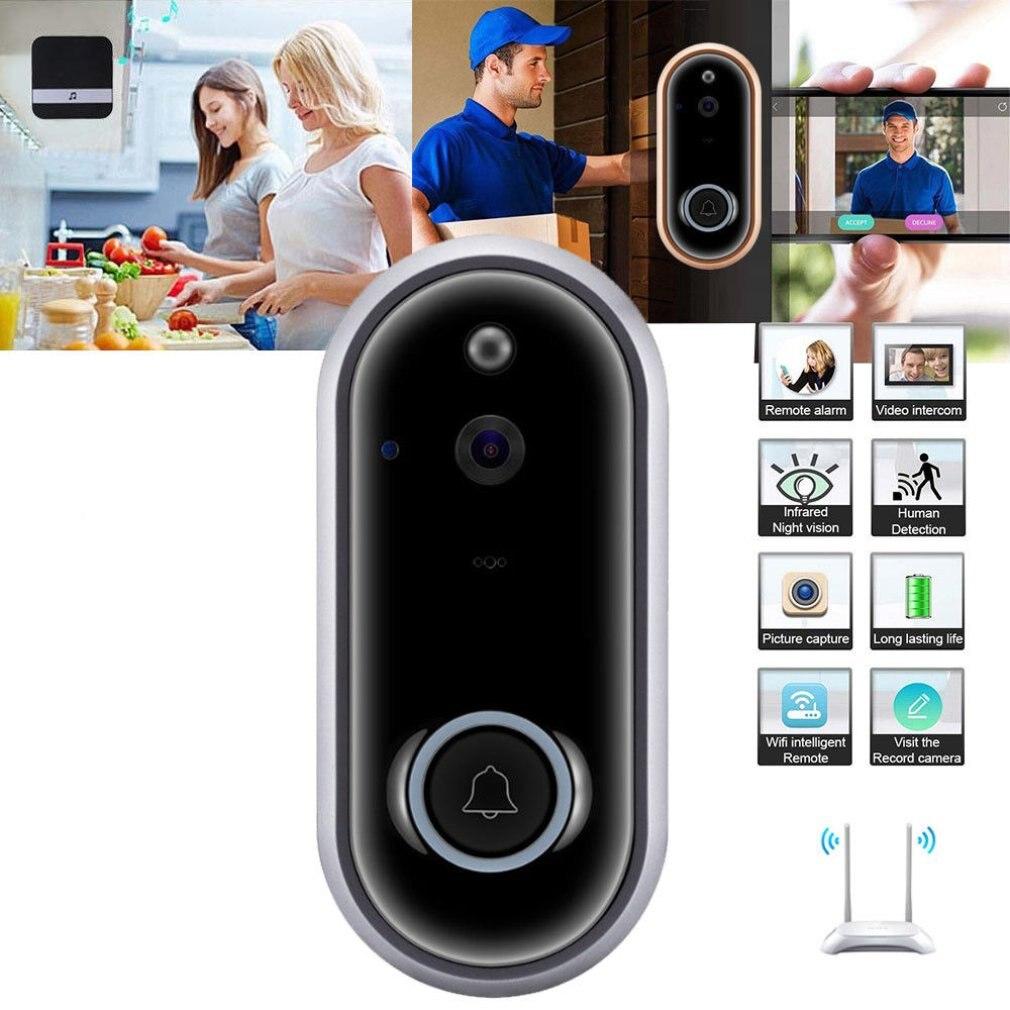 720P Wireless Doorbell Camera WiFi Video Door Intercom IR Security Bell Phone720P Wireless Doorbell Camera WiFi Video Door Intercom IR Security Bell Phone