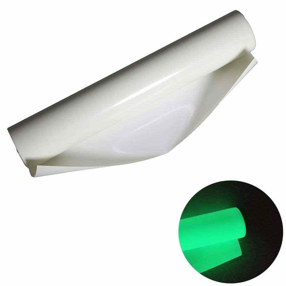 Heat Transfer Vinyl 10*12 inch 4 sheets Glow in dark green HTV Vinyl iron on transfer for shirts adhesive glow craft film paper