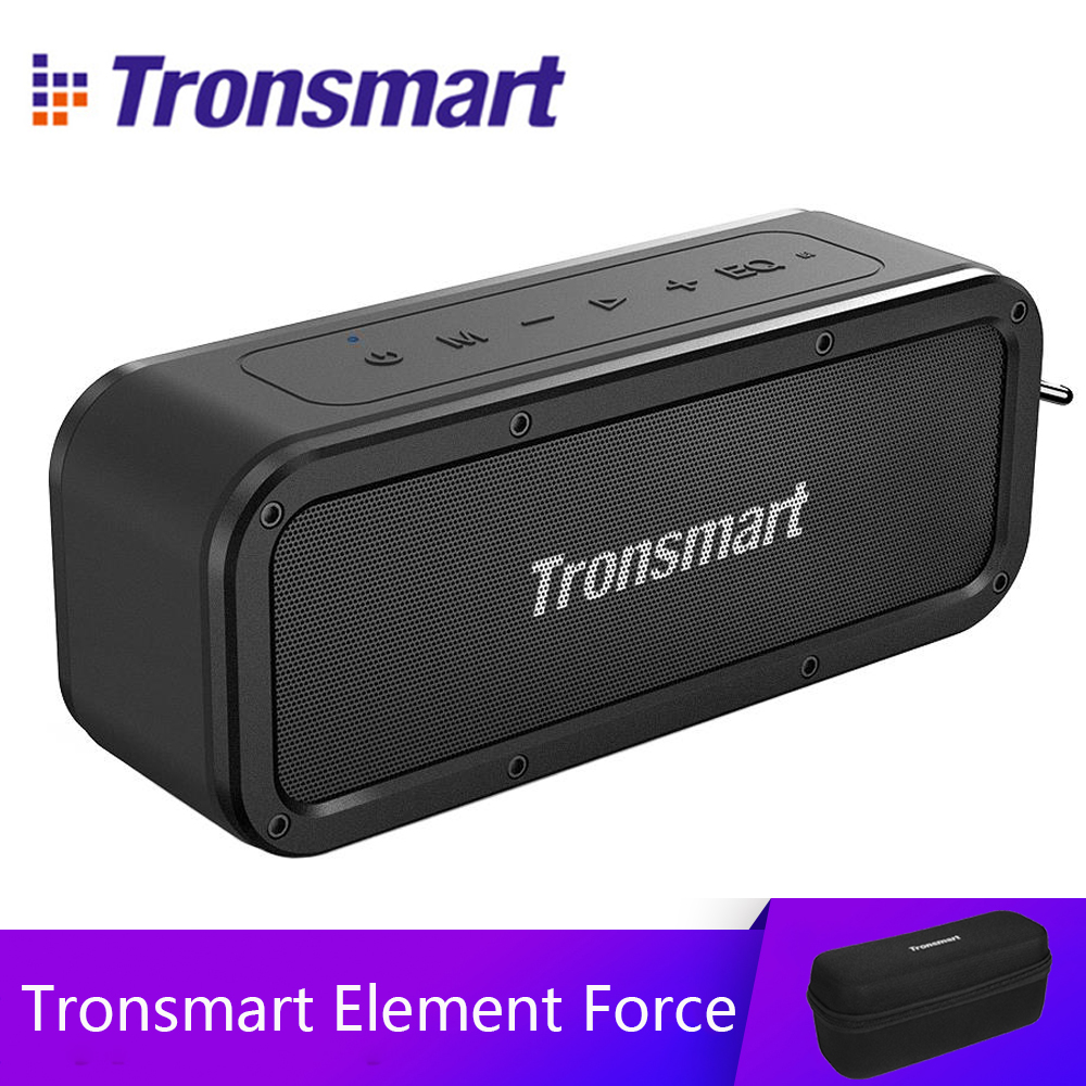 Tronsmart Élément Force haut-parleur bluetooth IPX7 Étanche Portable Haut-Parleur 40 W Ordinateur Haut-parleurs 15 H Récréation avec Subwoofer, NFC