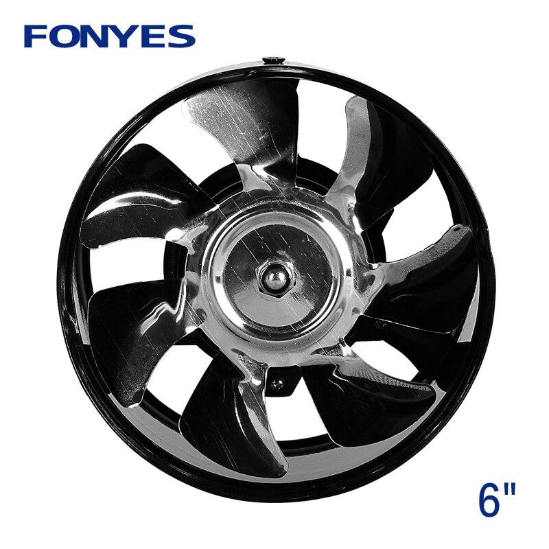 6 Inch High Speed Exhaust Fan Ducted Ventilation Fan Kitchen Extractor Metal Ventilator Inline Duct Booster Fan 220V
