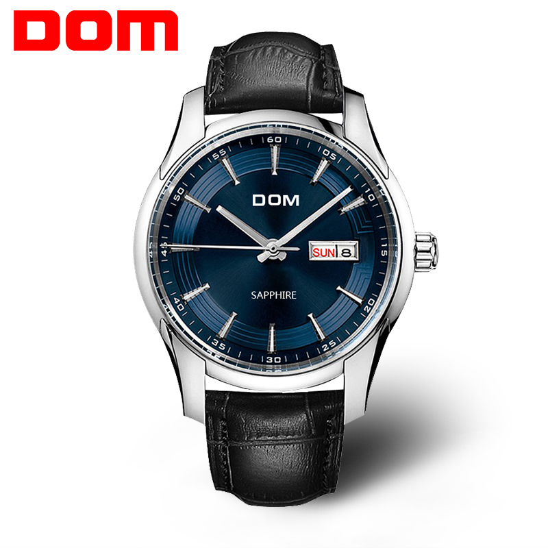 ФОТО 2016 New DOM Watch Men Luxury Fashion Men's  Leather Business Quartz Wrist Watch Relojes Hombre Relogio Masculino hot sale