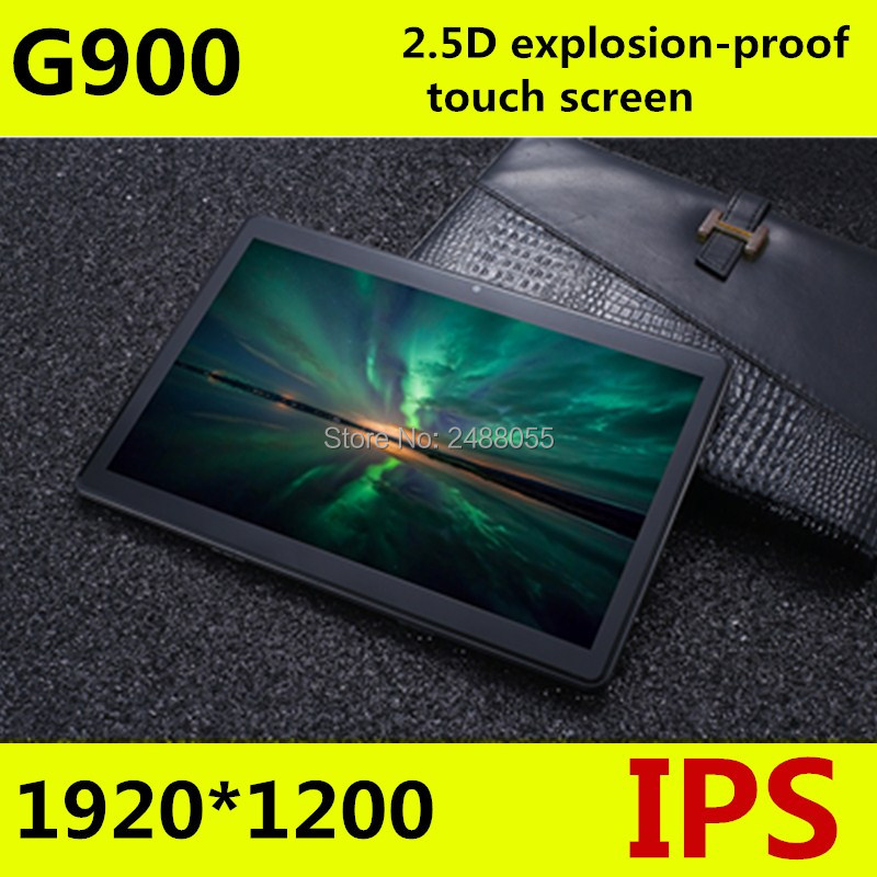 Livraison gratuite Android 8.0 G900 Octa Core 10 pouces tablette PC 4 GB RAM 64 GB ROM 5MP WIFI A-GPS 3G 4G LTE 2.5D verre trempé IPS