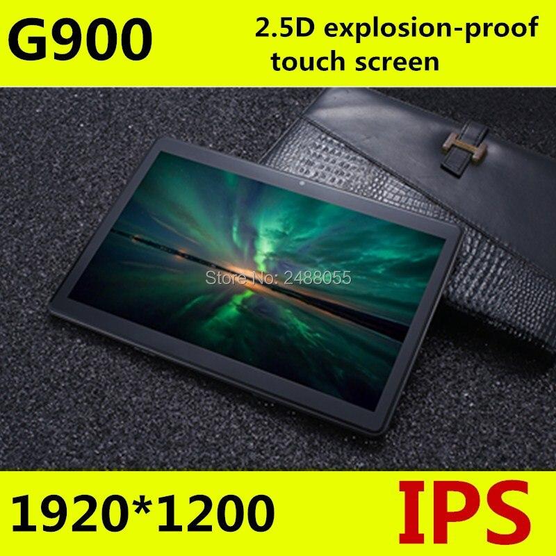 Trasporto libero Android 7.0 G900 Octa Core 10 pollice Tablet PC 4 gb di RAM 64 gb ROM 8MP WIFI A-GPS 3g 4g LTE 2.5D Vetro Temperato IPS