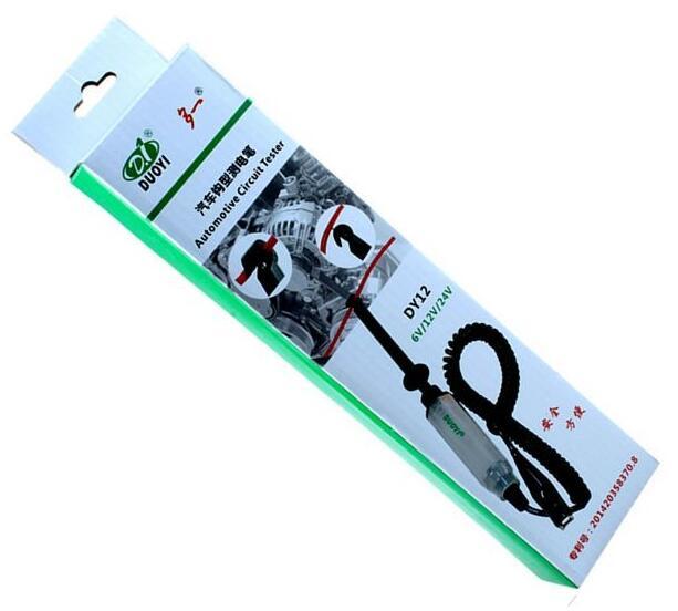 DUOYI DY12 Car Battery Measure Hook Test Pencil Automotive Batteries Testing Tool Low Voltage Circuit Detection