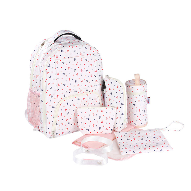 где купить 7 PCS/SET Baby Diaper Bag Pregnant Mother Bags multifunctional Kid Stroller Bags Nappy Baby Bags For Mom free shipping дешево