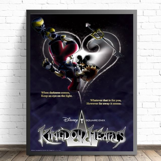 Kingdom Hearts Cartoon Remix Design Posters And Prints Canvas Art Painting Wall Pictures For Living Room Decoration Home Decor 4