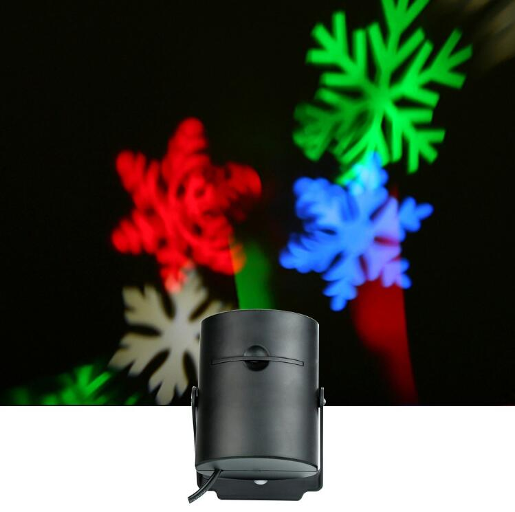 New LED Snowflake Christmas Projector Lighting Indoor Xmas Wedding Party Decorate Light RGB Bulb Lamp