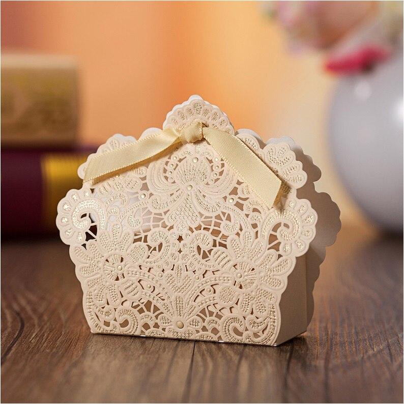 Wedding Music Box Gift: 2015 Red Champagne Wedding Favor Box Ribbon Laser Cut
