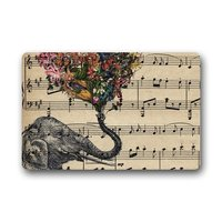 Doormat Personalize Decor Carpets Door Mats Music Note And Elephant With Colorful Paisley Heart Doormats