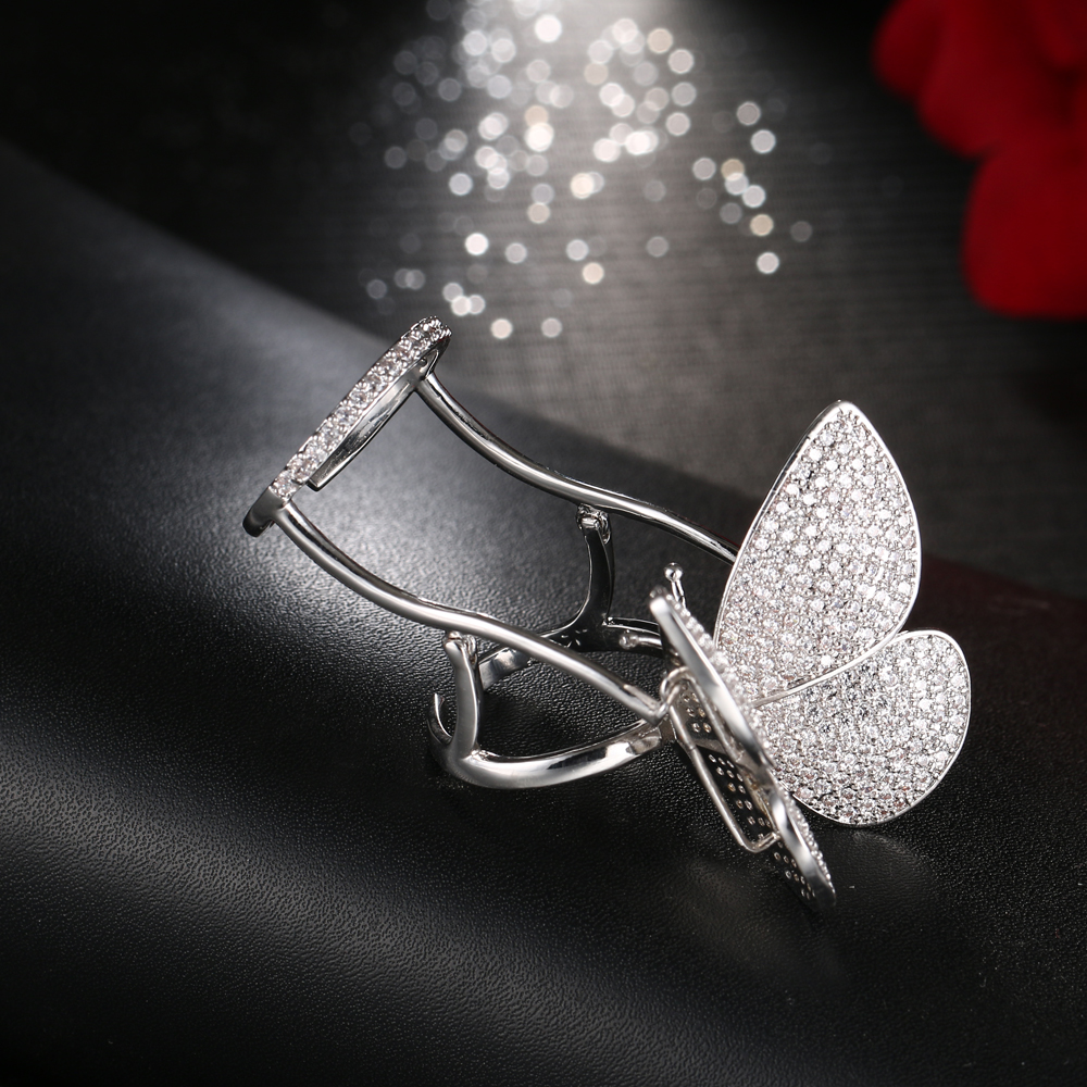 Женское кольцо в форме бабочки hiневесты регулируемое уникального