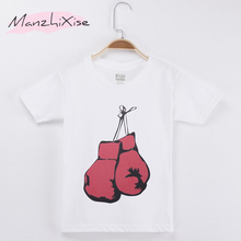 цены 2019 New Fashion Summer Children Clothing Kids T-shirt Boxing Top Cotton Short Sleeve Child Shirts Boy T Shirt Baby Girl Clothes