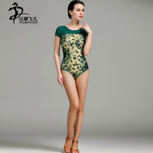 Latin Dance Top For Women Short Sleeve Ballroom/ Waltz/ Tango Leotard