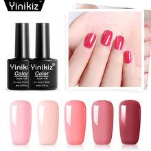 Yinikiz 1 шт Гель лак для ногтей 8 мл розовая серия впитывающий
