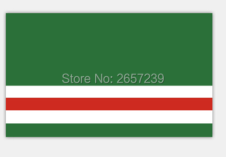 República de Chechenia bandera del estado de Rusia 150X90 cm 100D Polyester3x5FT ojales, envío libre