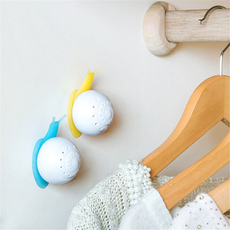 Indoor Air Freshener Snail Shape Suction Cup Wardrobe Bedroom Bathroom Toilet Deodorant Solid