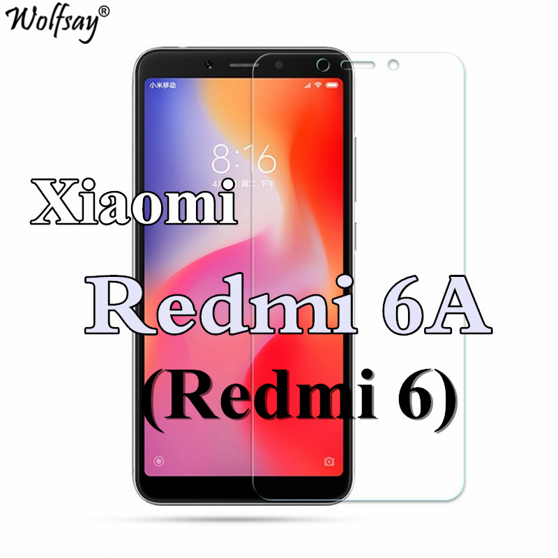 2pcs Phone Glass Xiaomi Redmi 6A Screen Protector Film Tempered Glass For Xiaomi Redmi 6A Glass For Xiaomi Redmi 6 Film Wolfsay
