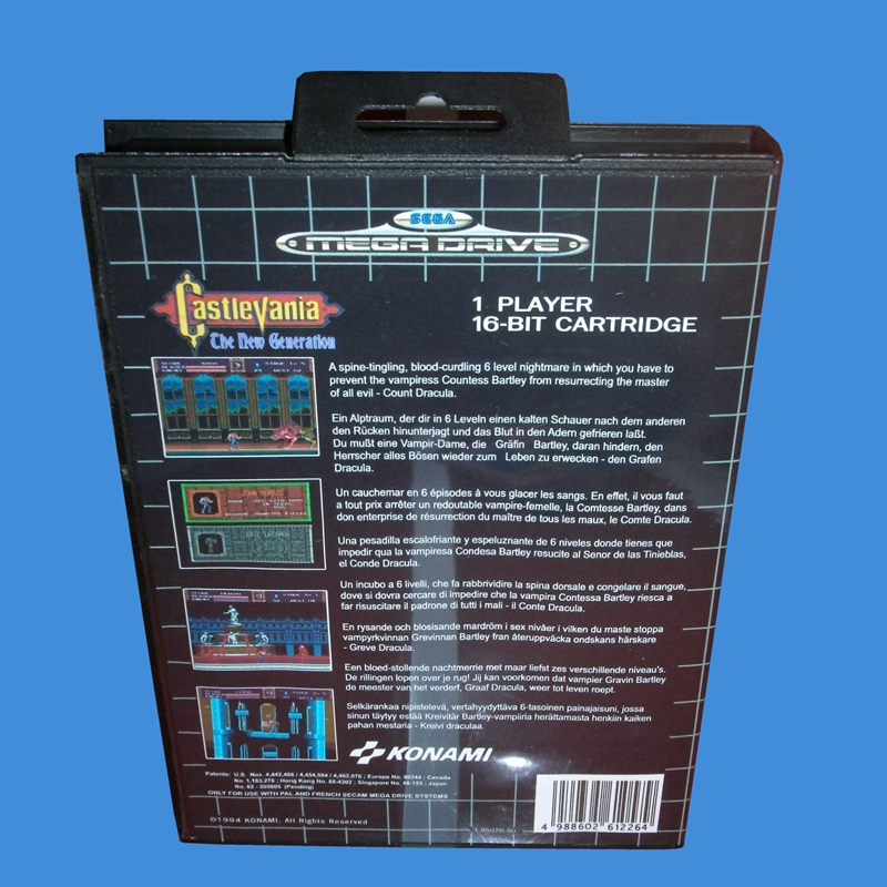 castlevania the new generation with box and manual 16bit md game rh aliexpress com Enterprise Wallpaper Enterprise Wallpaper
