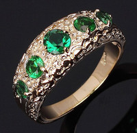 Size 7,8,9 Jewelry Super Fashion man's Simple Green Emerald Cz 18K Yelow Gold Filled Wedding Ring Gift Free Shipping R027