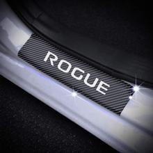 SENYAZON Rogue Decal Sticker Carbon Fibre Vinyl Reflective Car Door Sill Decoration Scuff Plate for Nissan (White)