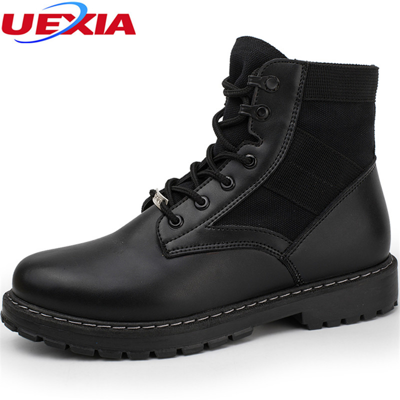 Men Boots Comfortable Casual Shoes Leather Snow High ...
