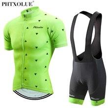 Phtxolue 2018 Cycling Clothing Men Set Bike Clothing Breathable Anti-UV Bicycle Wear/Short Sleeve Cycling Jersey Sets