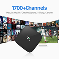 Quad Core Android Smart TV Box com 1 Ano Grátis IUDTV Europeia Conta de TV Ao Vivo IPTV Itália REINO UNIDO Francês Pré-carregados TV Set Top Box