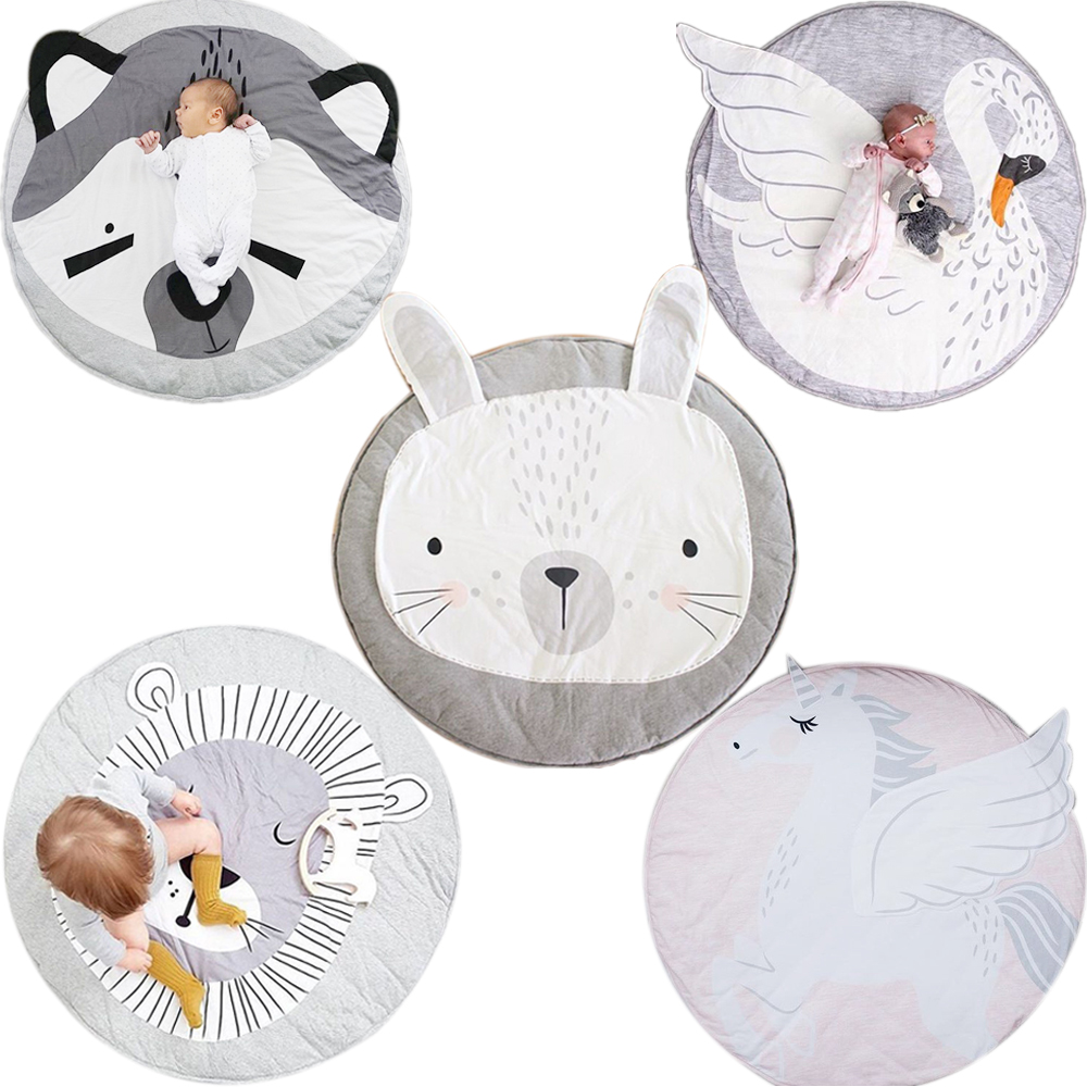 Animal climbing carpet baby play mats newborn infant soft sleeping mat cotton Rabbit Lion Raccoon Swan