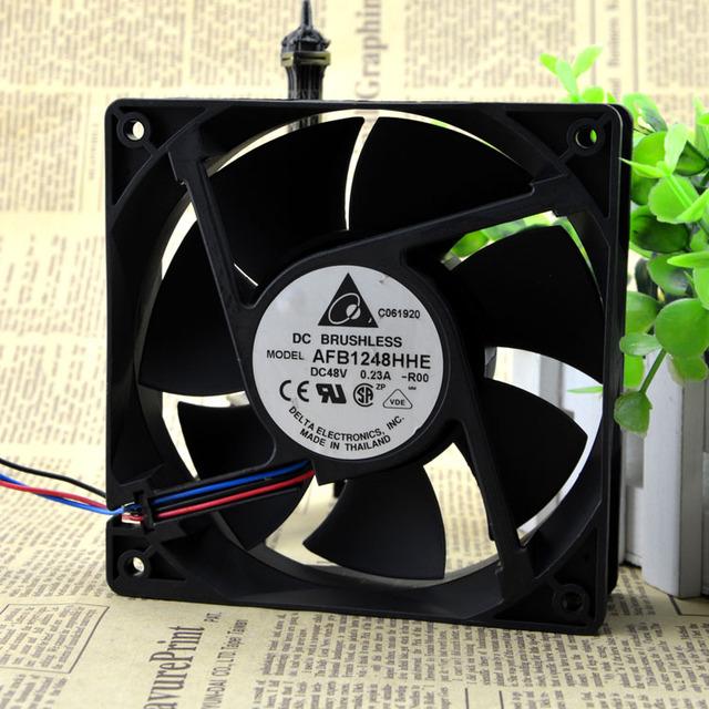 Entrega gratuita. 12 cm ventilador de refrigeración 48 v 0.23 A 12038 AFB1248HHE tres hilos aseguramiento de la calidad de Un
