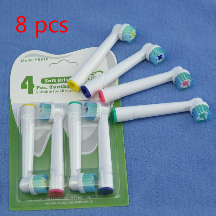 8pcs Electric Kids Children ToothBrush Heads For Oral B EB-10A Pro-Health Stages Interclean White Clean 3D Excel Professional image