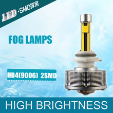 HB4/9006 LED  Automotive Fog Lamps Convision Kit Driving Cars Bulbs 2SMD Ultra High Bright 3000K Yellow Car Styling