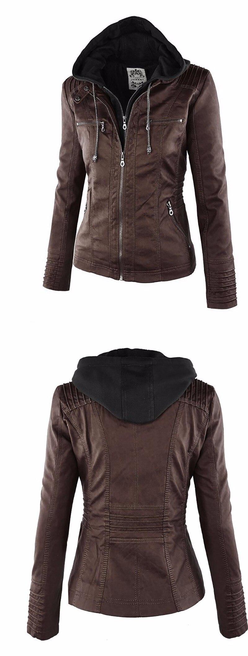 2018 Winter Faux Leather Jacket Women Casual Basic Coats Plus Size 7XL Ladies Basic Jackets Waterproof Windproof Coats Female 50