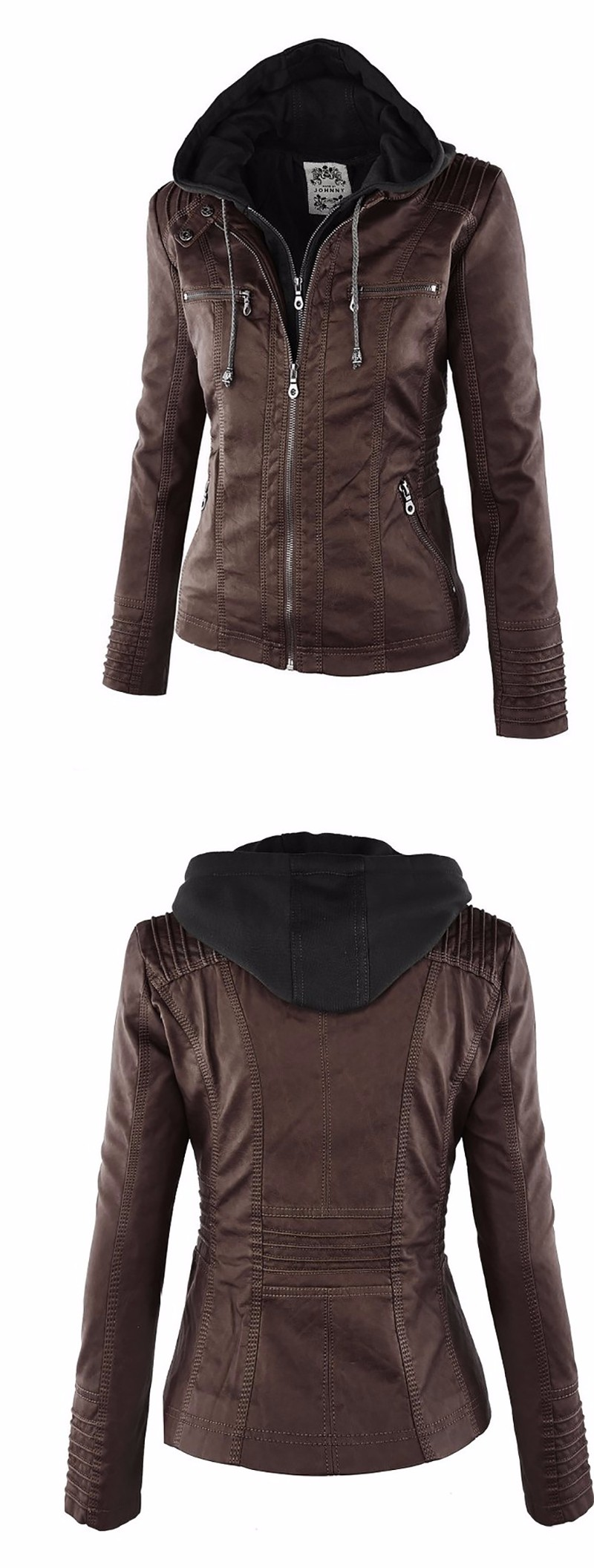 18 Winter Faux Leather Jacket Women Casual Basic Coats Plus Size 7XL Ladies Basic Jackets Waterproof Windproof Coats Female 50 10