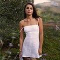 De alta qualidade verão Fahion mulheres Vestidos cinta de espaguete Skinny A - linha Vestidos praia breve vestido de verão feminino