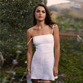 High Quality Summer Fahion Women Spaghetti Strap Dresses Skinny A-line Vestidos Beach Brief Sundress Female