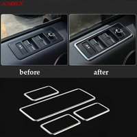 4PCS Auto Car Accessories ABS Chrome Window Lift Button Panel Trim For Land Rover Range Rover Sport 2014 2015 2016 L494 styling