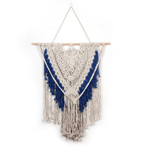 Nordic Style Tapestry Home Simple Decoration Pendant Bohemian Famous Wind Cotton Line wall hangings curtain macrame