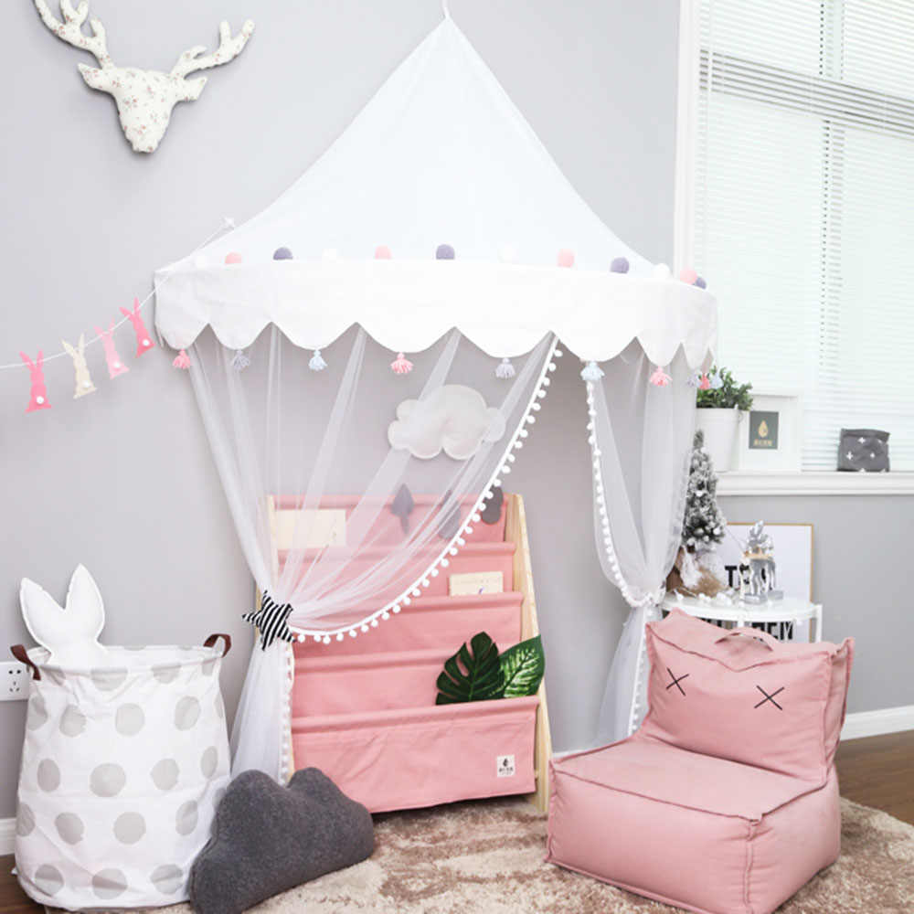 Nordic Baby Crib Netting Mosquito Net Tent Crib Cot Bed Canopy Kids Hanging  Play Tent House for Girls Children Infant Toddler