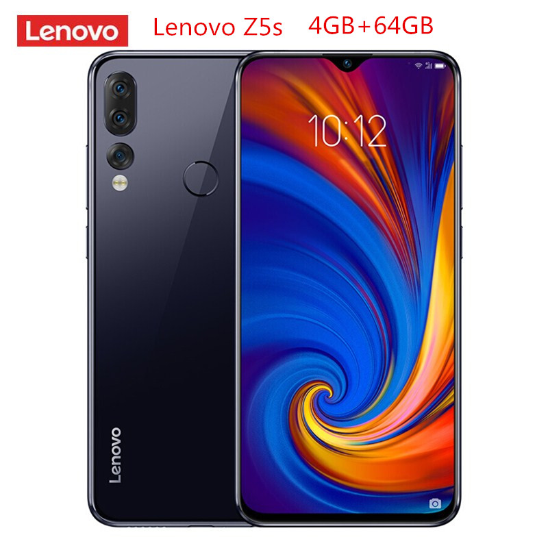 Lenovo Z5s 4G Smartphone 6.3'' Android P Qualcomm Snapdragon 710 Octa Core 4GB 64GB 16.0MP Fingerprint 3300mAh Mobile Cellphones