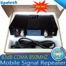 À gain élevé 2 W 83dB Puissance de Sortie 33dBm répéteur de signal CDMA 850 mhz repetidor De Celular 850 mhz GSM Signal booster avec ÉCRAN LCD affichage