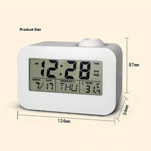 Projection Alarm Clock Multi-function Digital LCD Voice Talking LED Temperature Hot Sale