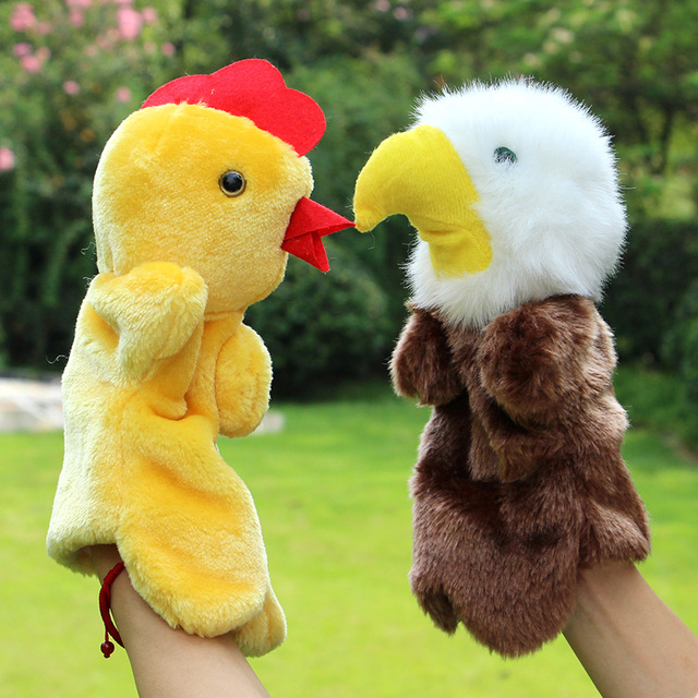 Eagle Catch Chicks Hand Puppets Christmas Gift 30cm Plush Hand