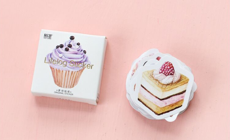 S190- Happy Cake Diy Decorative Stickers(1pack=45pieces)