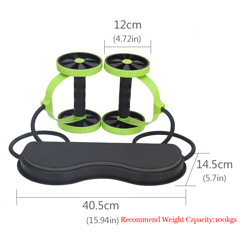 BLUERISE Multi Function Abs Roller as Training Apparatus and Gym Equipment for Fitness and Exercise 4