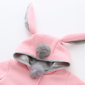 Image 4 - Hot Sale New Autumn&Winter Children Baby Girl Rabbit Ears Long Sleeve Jackets Clothes For 12 months to 4 Years Old Kids Wear