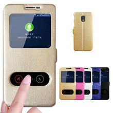 For Samsung J3 2017 Case Quick View Window PU Leather Flip Stand Case For Samsung Galaxy J3 2017 SM-J330F Cover Phone Cases 5.0 цена и фото