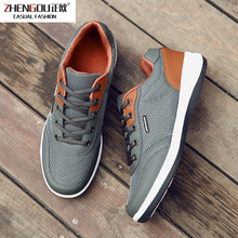 zhengou 2019 Autumn New Men Shoes Lace-up Fashion Microfiber Leather Casual Brand Sneakers Winter Flats