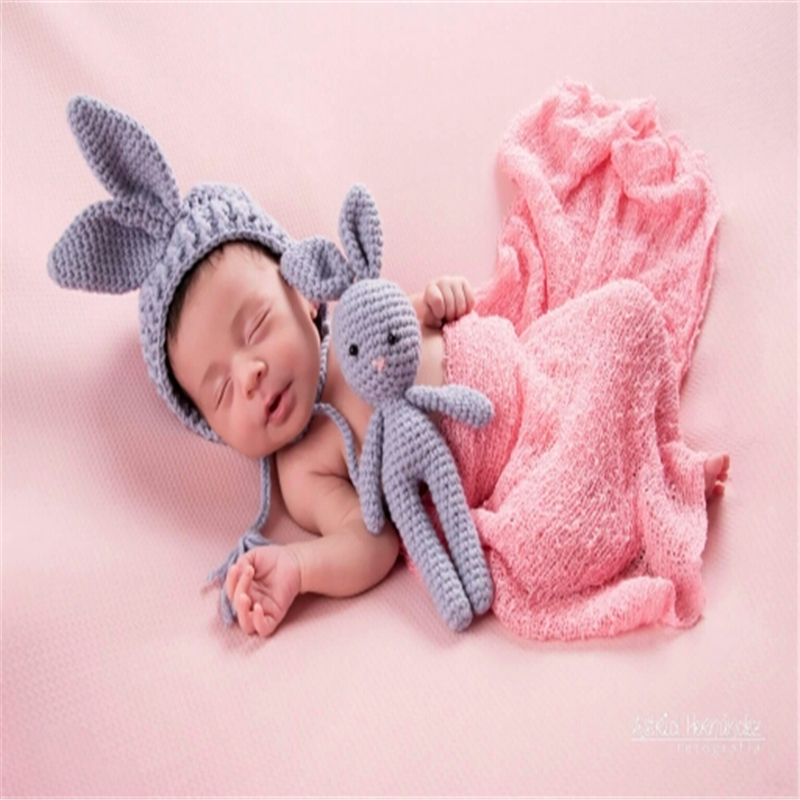 Soft Newborn Baby Photography Props Baby Hat Baby Cap Baby GirlBoy Clothes Newborn Crochet Outfits Knit Cute Hat And Pants Set