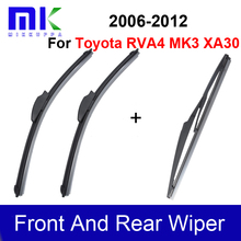 Front & Rear Wiper Blades For Toyota RAV4 3 XA30 2005 2006 2007 2008 2009 2010 2011 2012 Windshield Windscreen Car Accessories